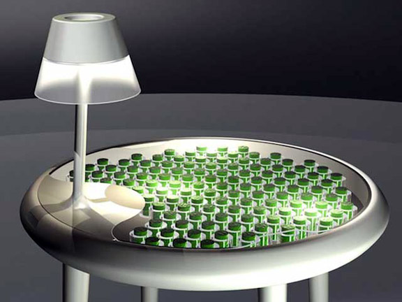 Prototype moss table via Groupe FG Design