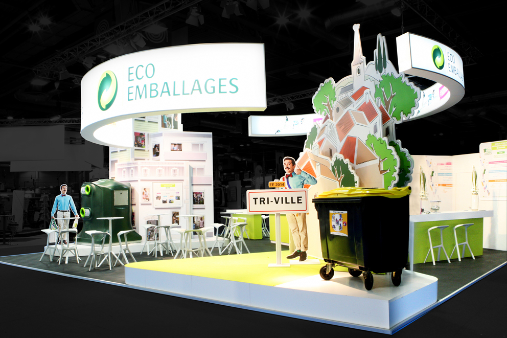 Stand eco-emballage via Groupe FG Design